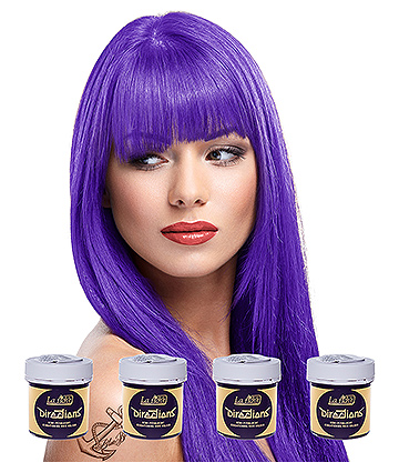 La Riche Directions Colour Hair Dye 4 Pack 88ml (Violet)