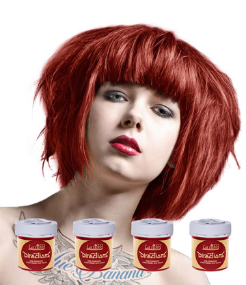 La Riche Directions Colour Hair Dye 4 Pack 88ml (Poppy Red)