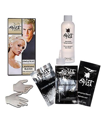 Kit Colorante Per Capelli Formula Prolungata Splat (Lightening Bleach - Bianco)