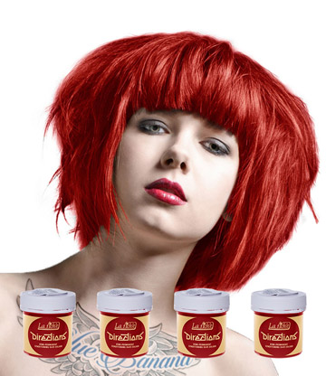 La Riche Directions Colour Hair Dye 4 Pack 88ml (Pillarbox Red)