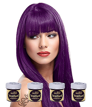 La Riche Directions Colour Hair Dye 4 Pack 88ml (Plum Purple)