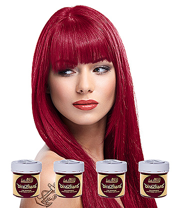 La Riche Directions Colour Hair Dye 4 Pack 88ml (Rose Red)