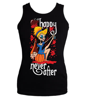 Happy Never After Sinders Vest Top With Blood (Black)