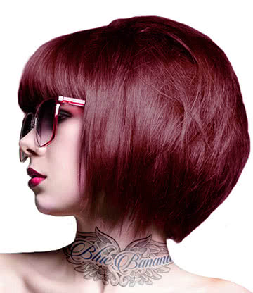 Crazy Color Semi-Permanent Hair Dye 100ml (Bordeaux Red)