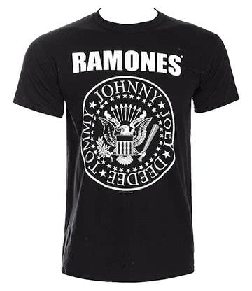 Official Ramones Seal T Shirt (Black)