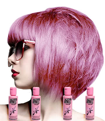 Crazy Color Semi-Permanent Hair Dye 4 Pack 100ml (Marshmallow)