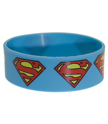 DC Comics Superman Bracelet Gummy Souple (Bleu)