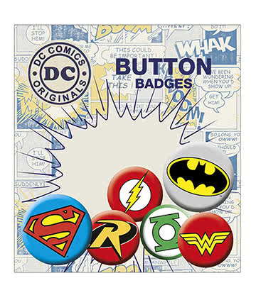 DC Comics Button Badges (Pack of 6)