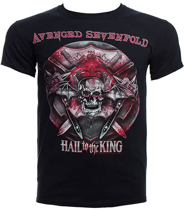 T Shirt Avenged Sevenfold Battle Armour (Nero)