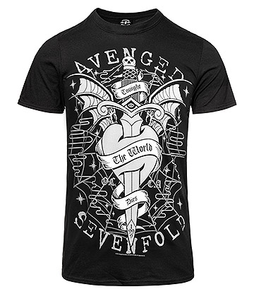 Official Avenged Sevenfold Cloak & Dagger T Shirt (Black)
