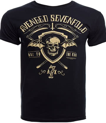 Official Avenged Sevenfold Shield And Sickle T Shirt (Black)