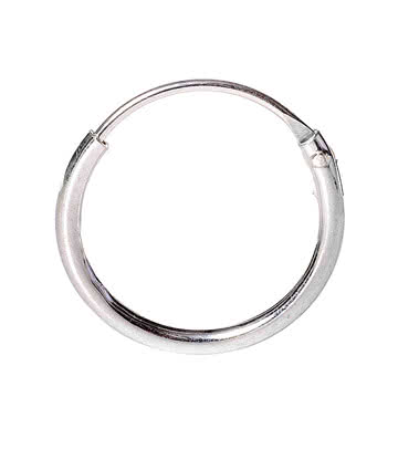 Blue Banana Silver 1.2 x 12mm Nose Ring (Silver)