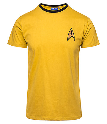 Star Trek Uniform T Shirt (Yellow)