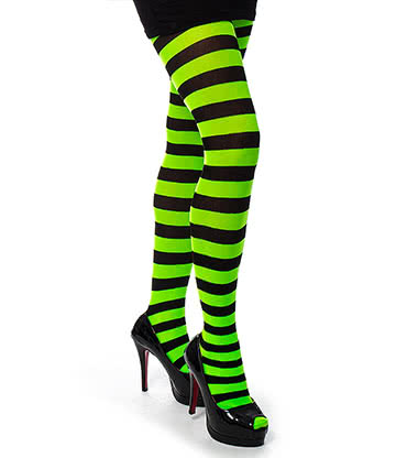Pamela Mann Twickers Tights (Black/Fluorescent Green)