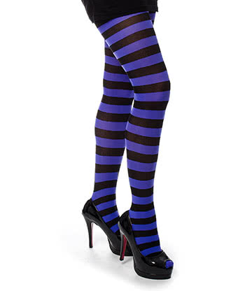 Pamela Mann Twickers Tights (Black/Fluorescent Purple)
