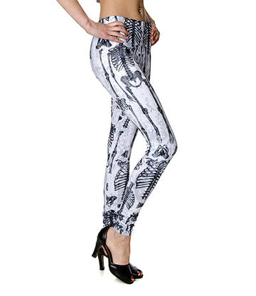 Banned Skeleton Leggings (White)