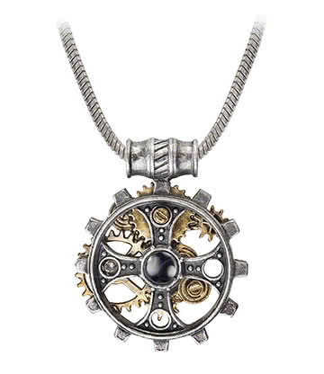 Alchemy Gothic Foundryman's Ring Cross Pendant Necklace