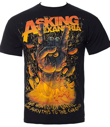 Official Asking Alexandria Metal Hands T Shirt (Black)