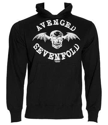 Avenged Sevenfold Logo Sweat à Capuche (Noir)