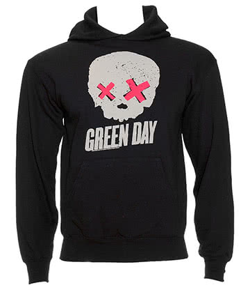Green Day Skull Sweat à Capuche (Noir)