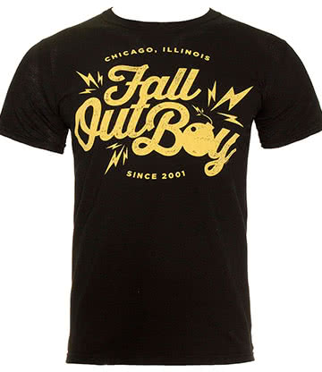 Official Fall Out Boy Bomb T Shirt (Black)