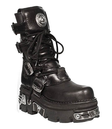 New Rock Style M. 373 Boots (Black)