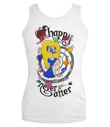 Happy Never After Alice Spiral Vest Top (White)