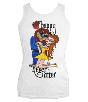 Happy Never After Beast Vest Top (White)