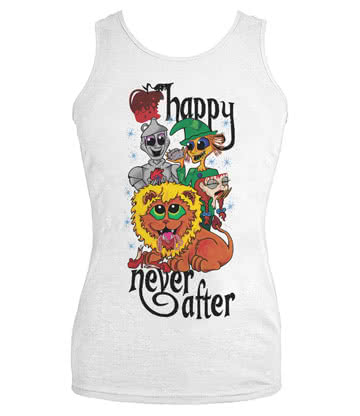 Happy Never After Dead Gang Vest Top (White)