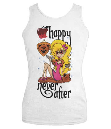 Happy Never After Bears Vest Top (White)