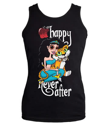 Happy Never After Tiger Vest Top (Black)
