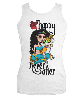 Happy Never After Tiger Vest Top (White)