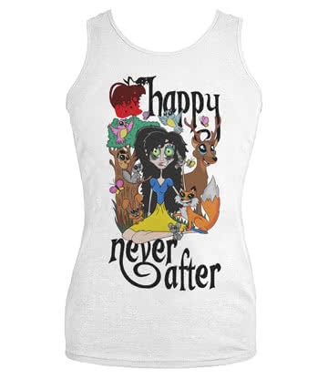 Happy Never After Snowy Vest Top (White)