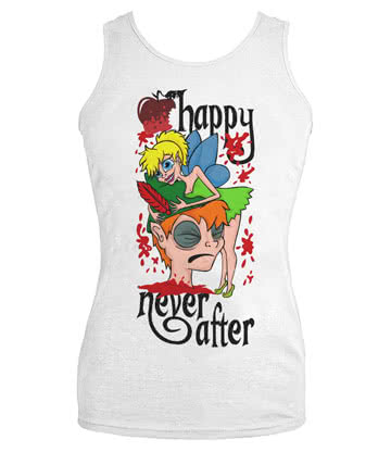 Happy Never After Tink Vest Top (White)