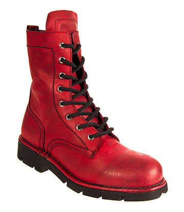 New Rock Style M.1423-C8 Ankle Boots (Rojo Red)