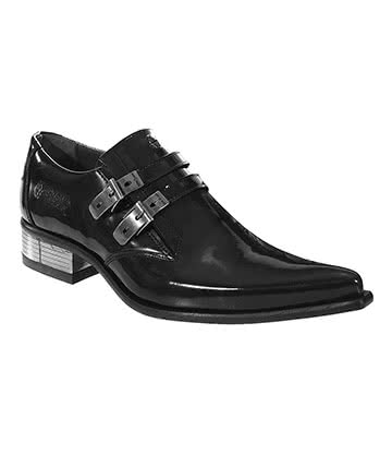 New Rock M.2246-S10 Newman Shoes (Black)