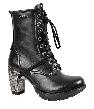 New Rock M.TR001-S1 Trail Heeled Half Boots (Black)