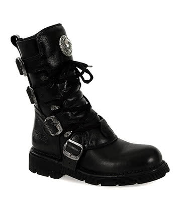 New Rock M.1473-S1 Comfort Light Calf Boots (Black)