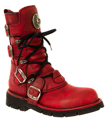 New Rock M.1473-S12 Comfort Light Calf Boots (Red)
