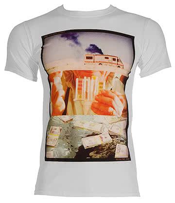 Breaking Bad Photo Cut T Shirt (White)