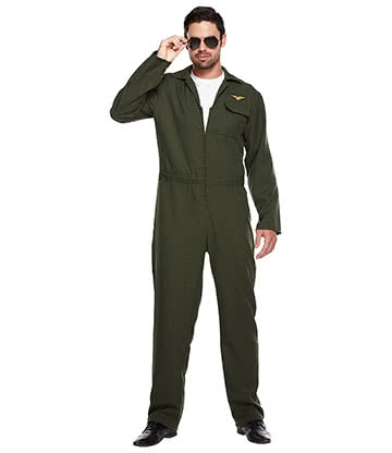 Costume Fancy Dress Aviatore (Verde)
