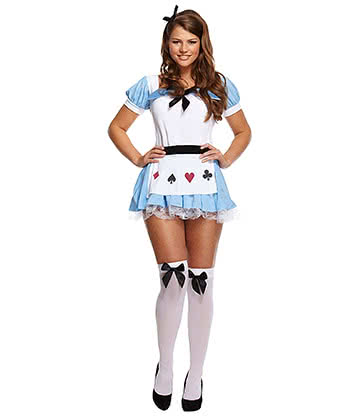 Alice Fancy Dress Costume (Blue/White)