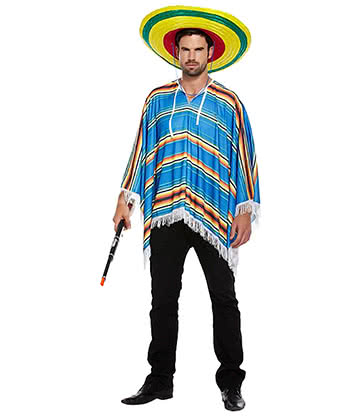 Blue Banana Poncho Fancy Dress Costume
