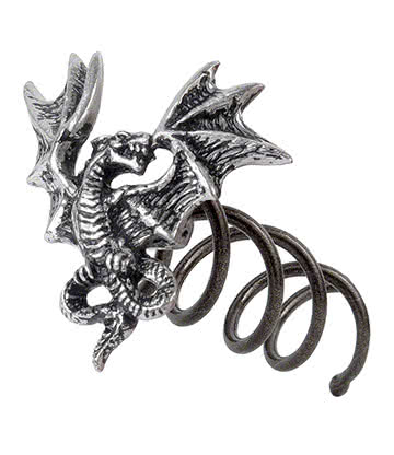 Alchemy Gothic Smoke Dragon Hair Screw (Silver)