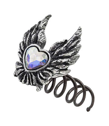 Alchemy Gothic Heart Of An Angel Vis A Cheveux Gothique (Argenté)