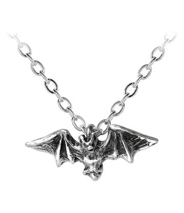 Alchemy Gothic Kiss Of The Night Pendentif (Argenté)