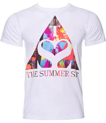 Official The Summer Set Triangle T Shirt (White)