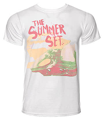 Official The Summer Set Wave T Shirt (White)