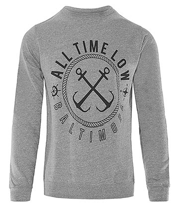 All Time Low Sea Sick Sweat-Shirt Col Rond (Gris)