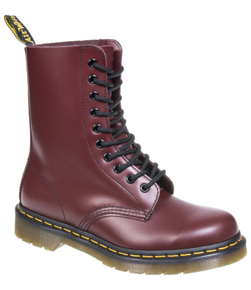 Dr Martens 1490 Smooth Boots (Cherry Red)